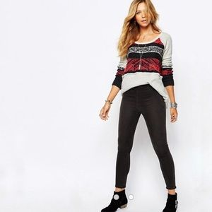 Free People Snow Angel Nordic Pullover Sweater